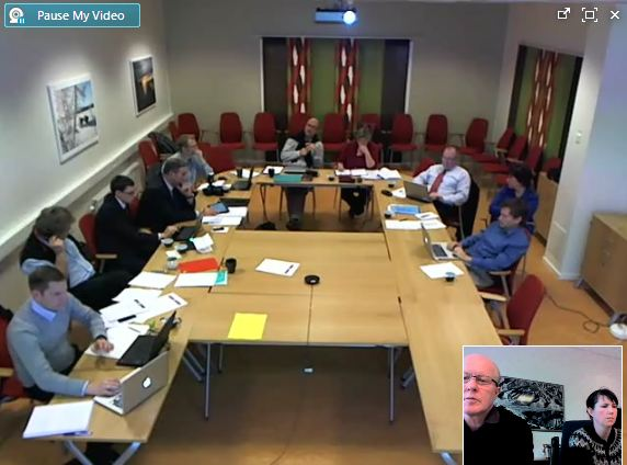 SC meeting in Kiruna seen from the participants in Iceland that joined the meeting via internet