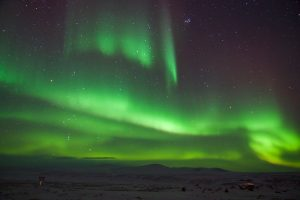 Images of Dancing Northern Lights in Greenland